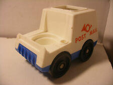 Vintage fisher price little Family play people voiture car POST MAIL