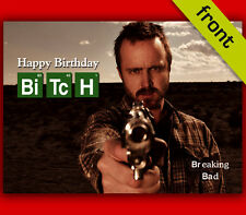 (no2) Breaking Bad Autograph Signed Birthday Card Reproduction Print
