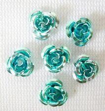 50 X de 6mm Color Turquesa Azul Aluminio Rose espaciador granos