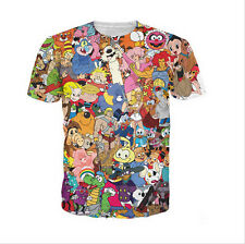 2016 Newest Fashion Womens/Mens Cartoon Pokemon Funny 3D print T-shirt UKT04