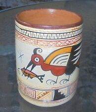South American  Indian terracotta  pottery libation cup