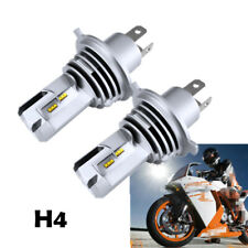 2pcs H4 LED 6500K White Motorcycle Headlight Head Lamp Front Bulb 55W ZES 6000LM