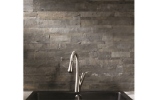 Self Adhesive 6 x 24-Inch Iron Slate Peel And Stick Tiles Stone Backsplash Wall