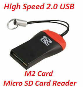 USB 2.0 Mini Micro SD T-Flash TF Memory Card Reader Free P&P