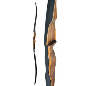 """10-30lbs 52"""" Archery Longbow Handmade Recurve Bow Traditional Horsebow Wooden"""
