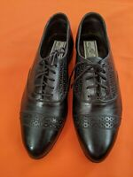 Giorgio Brutini Black Leather Oxford Brogues Shoes Womens size 9D (lot#321)