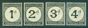 SG D1-D4 Northern Rhodesia 1929-52. Postage due set of 4. Fine mounted mint...