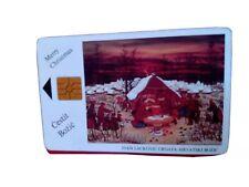 Croatia Nativity phonecard. People Visiting baby Jesus. Merry Christmas.