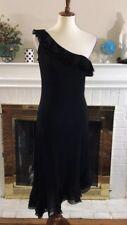 🌻Lauren Ralph Lauren black ruffle cocktail dress  Sz M