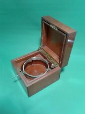 Ships chronometer Longines gimbaled mounting box