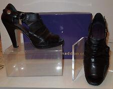 Steve Madden/Madden Girl Black Asterick Platform Peep Toe Booties 7M