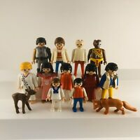 Playmobil Vintage Figures Lot Of 13 1974-1994 Fox Deer Kids