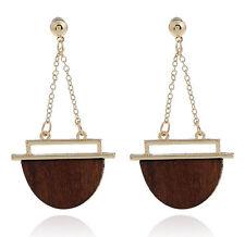 MARNI H&M Brown Geometric Earrings