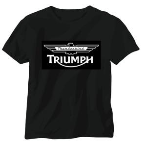 Triumph vintage British T shirt motorbike motorcycle biker Thunderbird