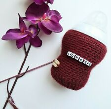 Handmade crochet baby bottle cover / PERSONALIZED