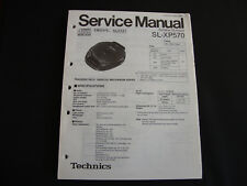 ORIGINALI service manual TECHNICS sl-xp570