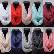 Seide Loopschal Loop Schal Seidentuch Halstuch Tuch Damentuch Damen Unifarben
