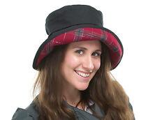 Tout nouveau femme couleur noir cire imperméable outdoor casual chapeau lizzie