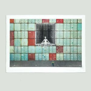 JR 'In the Container Wall' 1/180 Hand Signed, Embossed and Numbered Art Print