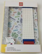 LEGO White JOURNAL With BAND BRAND NEW LEGOS 96 Pages NIB Lego Fan Gift