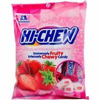 Morinaga Hi Chew Chewy Candy Strawberry Bag, 3.53 oz
