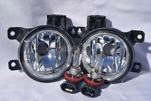 Glass Fog Driving Light Lamps w/Light Bulbs One Pair For 2013-2015 Accord Coupe