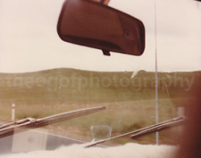 WINDSHIELD POV Car FOUND PHOTO Color FREE SHIPPING Snapshot VINTAGE Wipers 712 7