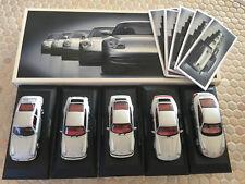 PORSCHE 911 EVOLUTION HISTORY BOXED 5 CAR SET 1:43 MODEL MINICHAMPS.