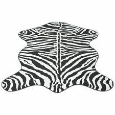 vidaXL Vloerkleed 110x150 cm Zebra Print Vloer Kleed Bedekking Sier Mat Deco