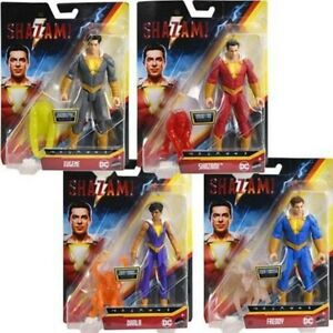 "SHAZAM 6"" BASIC ACTION FIGURE SUPER-HEROES - KIDS FAVORITE HEROES - NEW BOXED"