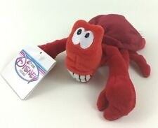 Disney Store Little Mermaid Sebastian Crab Mini Bean Bag Plush Stuffed Toy w Tag