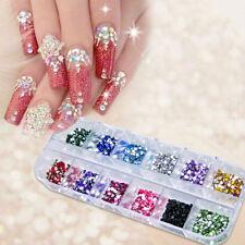 1200pcs Nail Art Rhinestones Glitters Acrylic Tips Decoration Manicure Wheel