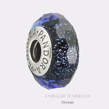 Authentic Pandora Silver Murano Blue Fascinating Iridescence Bead 791646