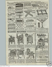 1921 PAPER AD Badger Water Motor Wood Wooden Washing Machine Lever Hand Power