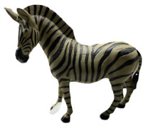 Large Zebra Standing Statue Figure Jungle Decor Black and White Table Top