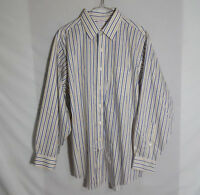 Brooks Brothers Mens Button Down Dress Shirt Traditional Fit Striped Size 16 2/3