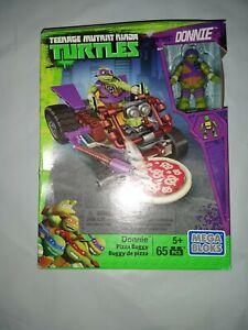 MEGA BLOKS 2016 Teenage Mutant Ninja Turtles Donnie Pizza Buggy + Bonus