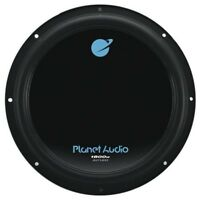 Planet Audio 10 in. Dual 4-Ohm Voice Coil Subwoofer Black Poly Injection Cone
