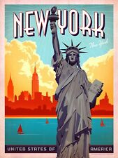 New York, Vintage Retro Metal Sign Plaque, Novelty Gift