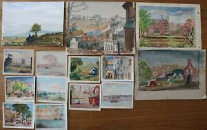 GEORGE GRAINGER SMITH - A COLLECTION OF 14 PAINTINGS
