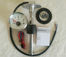 "Fuel Level Gauge With Sender,6-1/2"",10-180 Ohm,Oil Tank Level,2''/52mm,Universal"
