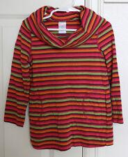 GYMBOREE FALL HOMECOMING Size 4 Years Girls Shirt Striped Top Long Sleeves VGUC