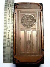 Plaque gravure Cuivre horloge clock uhr watchmaker Uhrmacher carillon no odo 6