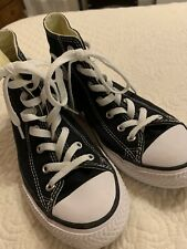 Converse Youth Kids Black Chuck Taylor All Star High Top Shoes Size Us 3 Eu 35