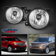 Fit Ford Explorer 11-15 Clear Lens Pair Bumper Fog Light Lamp OE Replacement DOT