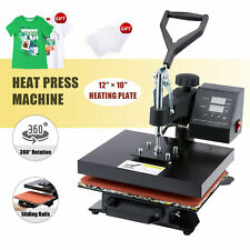 T Shirt Heat Press Machine W 12x10in Heat Pad For Phone Cases Tote Bags Amp More