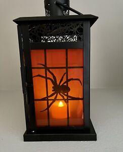 YANKEE CANDLE BLACK SPIDER Glass WEB LANTERN TART WARMER BURNER HALLOWEEN