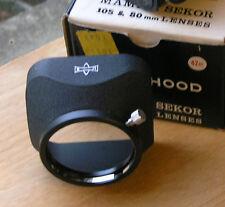 Mamiya TLR genuine hood for 80mm f2.8 chrome lenses  42mm clamp on & case