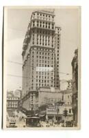 Sao Paulo, Brazil - Martinelli Building, street scene - old real photo postcard