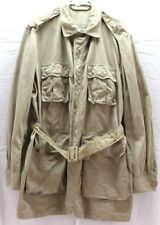 USAF Tan Man's Cotton Jacket 4 pockets with belt size 48 XL used M8388